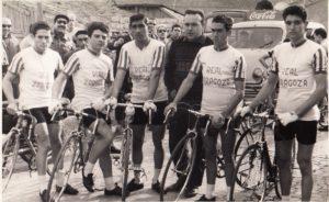 Con el Real Zaragoza. De izq a rcha., Ernesto Cabestrero, Pina, Félix Rodríguez, José Gascón, Antonio Bonacho y Paco Ezquerra