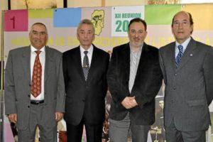Homenaje AECA 2011. De izq. a dcha., Antonio Bonacho, Valero Ibáñez, Miguel Gay y Adolfo Ibáñez
