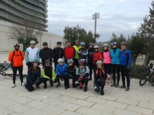 Grupo Btt en la torre del agua