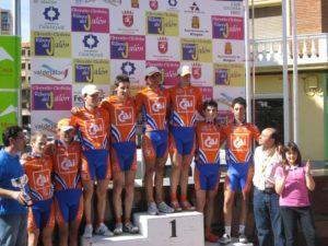El CAI-CC Aragonés el mejor equipo en el Circuito Ciclista Ribera del Jalón 2009