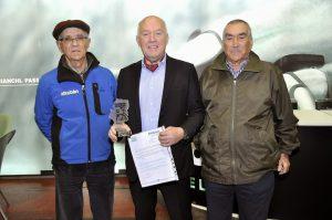 Salvatore Grimaldi (centro) con Adolfo Bello (izq) y Antonio Bonacho (dcha)
